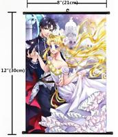 "Hot Japan Anime Sailor Moon Crystal Home Decor Poster Wall Scroll 8""x12"" 03"