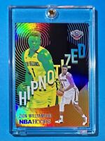 Zion Williamson HOT NEW HIPNOTIZED HOLOFOIL INSERT PANINI NBA HOOPS 2021 - Mint!
