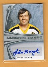 2015-16 Leaf Ultimate Johnny Bucyk Autograph /35 Boston Bruins