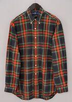 Men Ralph Lauren Casual Shirt Check Cotton L MIA798