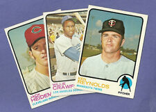 you pick any, lot of 6 High numbers from 1973 Topps Baseball set