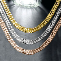 "MEN & WOMAN'S- 10 mm x 30"" CUBAN / CURB LINK CHAIN Necklace  PVD BONDED 18k GOLD"