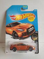Hot Wheels '17 Nissan GT-R (R35) Orange NightBurnerz #282