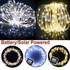 100/200 Solar/Battery Powered LED Fairy String Light Waterproof  Christams Decor