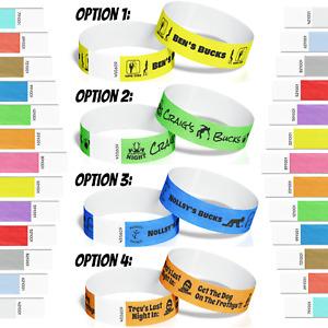 30 Bucks Stag Bachelor Party Tyvek Paper Event ID Wristbands Custom Print *SALE*