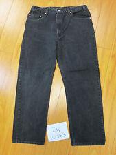 used levis 505 regular fit straight leg 38x30 meas 34x28.5 black jean Zip10583