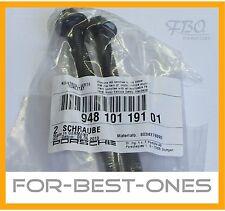 2x Porsche Panamera Cayenne Macan Schrauben Kurbelwellengehäuse 94810119101 bolt