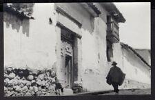 PERU CUZCO CACHOCHUÑO STREET RPPC POSTCARD