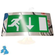 Curved Polished Chrome Emergency Light Maintained Exit Box Curved