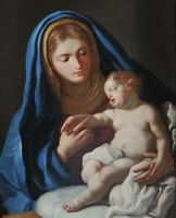 """perfect oil painting handpainted on canvas""""virgin mary with the baby jesus""""N9792"""
