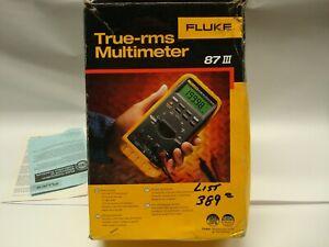 Fluke 87 III True RMS DMM Digital Multimeter 87-III