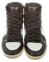 SAINT LAURENT SL/10H HIGH-TOP SNEAKERS SIZE: US 7 | EU 40 Men's black and white