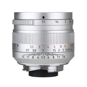 7artisans 50mm f1.1 Manual Lens for Leica M  M-M M3 M4 M6 M7 M8 M9 M240 Sliver