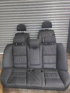 BMW 5 SERIES E60 LCI SALOON HEATED LEATHER INTERIOR FRONT + REAR SEATS BLACK