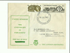 1965 Anniversary of Parliament on London Assurance cover. Rarely seen *