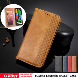 For Google Pixel 5 4A 5G 4 3 3A XL Case Leather Wallet Card Magnetic Flip Cover
