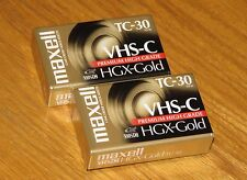 Maxwell VHS-C TC-30 HGX-Gold Premium High Grade Camcorder Videocassette tap