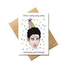Derek Zoolander Blue Steel, Ben Stiller funny birthday card with decal sticker