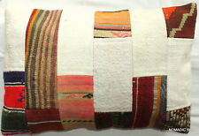 (40*60cm, 16*24cm) Textured handmade pillow cover Patchwork kilim and cotton #1