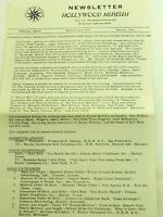 Hollywood Museum Newsletter Special Issue  March 1964