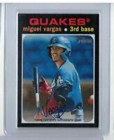Miguel Vargas 2020 Topps Heritage Minor League Autograph ROA-MV - Quakers
