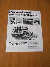 1971 MOTORE MARINO DAF DIESEL DT 615 M  ANNI 70 PUBBLICITA AD