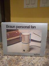 MCM Braun HL-70 Desk Fan Reinhold Weiss Chocolate Brown Japan TESTED WORKS