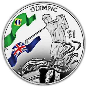 British Virgin Islands 2016 Rio de Janeiro Olympics Golf Colour Coin
