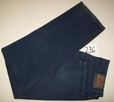 vintage USA LEVI'S 501 indigo Denim Jeans 35x32 Button Fly Tapered Tagged 36x30