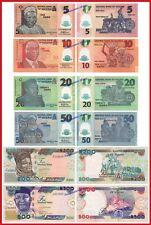 NIGERIA SET 5 10 20 50 200 & 500 Naira 2017  Pick New  SC / UNC