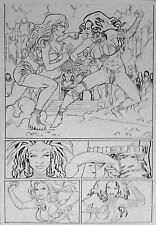 JUNGLE FANTASY  LORELEI  JACK JADSON  ORIGINAL COMIC ART PAGE
