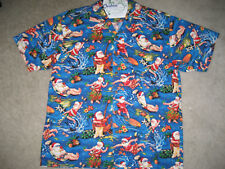 SURFIN SANTA  CLASSIC CHRISTMAS HAWAIIAN SHIRT VINTAGE HOLIDAY STYLE SIZE   XL ·   2c66149f4