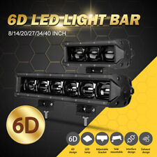 "40"" 34"" 27"" 20"" 14"" 8"" LED Work Light Bar Flood Offroad 4X4 SUV Driving Fog Lamp"