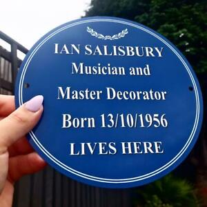 Personalised Heritage Blue Plaque with ANY text you want! FABULOUS GIFT!