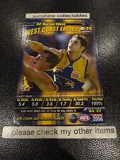 2006 AFL TEAMCOACH BASE CARD WEST COAST NO.32 DARREN GLASS