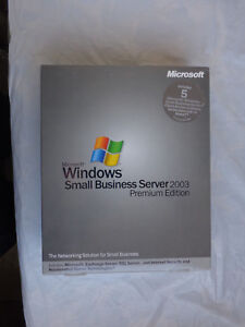 Microsoft Windows Small Business Server 2003 Premium RETAIL w' 5 CAL Sealed Box