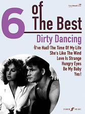 6 del miglior Dirty Dancing affamati occhi PIANOFORTE CHITARRA POP CANZONI FABER LIBRO MUSICA