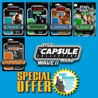 FREE MANDO OFFER!! Vintage Kenner STAR WARS Name Capsule Wave II patch set of 5