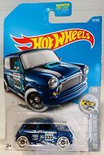 2017 Hot Wheels #137 HW Snow Stormers 2/5 MORRIS MINI Dark Blue w/White Wheels