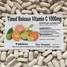 Timed Release Vitamin C (1000mg)     365 Tablets  FREE P&P         (L)