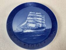 Royal Copenhagen 1961 Christmas Plate Kai Lange Skoleskibet Training Ship