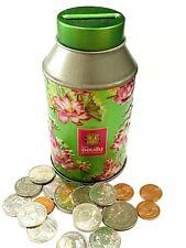 Tin Piggy Bank Deposit Box Saver Coin Cash Savings Rare Collectible Money Jar