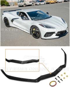 For 20-Up Corvette C8 GM Z51 ABS Plastic CARBON FLASH Front Bumper Lip Spoiler