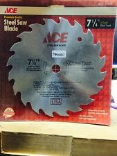 """7-1/4"""" Steel Saw Blade Chisel 20 Tooth Ace #23566 (Nn0121)"""