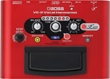 BOSS VE-2 Vocal Harmonist Battery-powered Portable Effects FX Processor Pedal