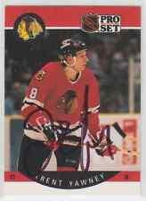 Autographed 90/91 Pro Set Trent Yawney - Blackhawks