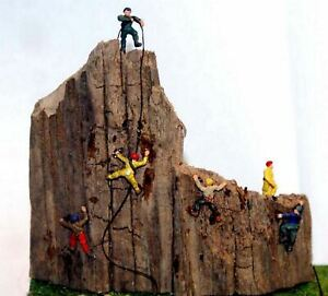 6 Rock Climbers People A104p PAINTED N Gauge Scale Langley Models People Figures
