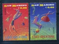 Saint Marin 2002 Sass. 1855-1856 Neuf ** 100% Cirque Europe unie 2000