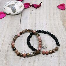 Distance Bracelet Couple Natural Stone Friendship Set,Charm Beaded Gift Bag