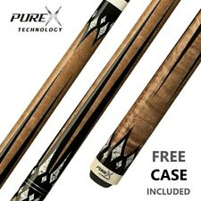 PureX HXT65 Pool Cue & Case 11.75-12.75mm Low Deflection Shaft Kamui tip 18-21oz